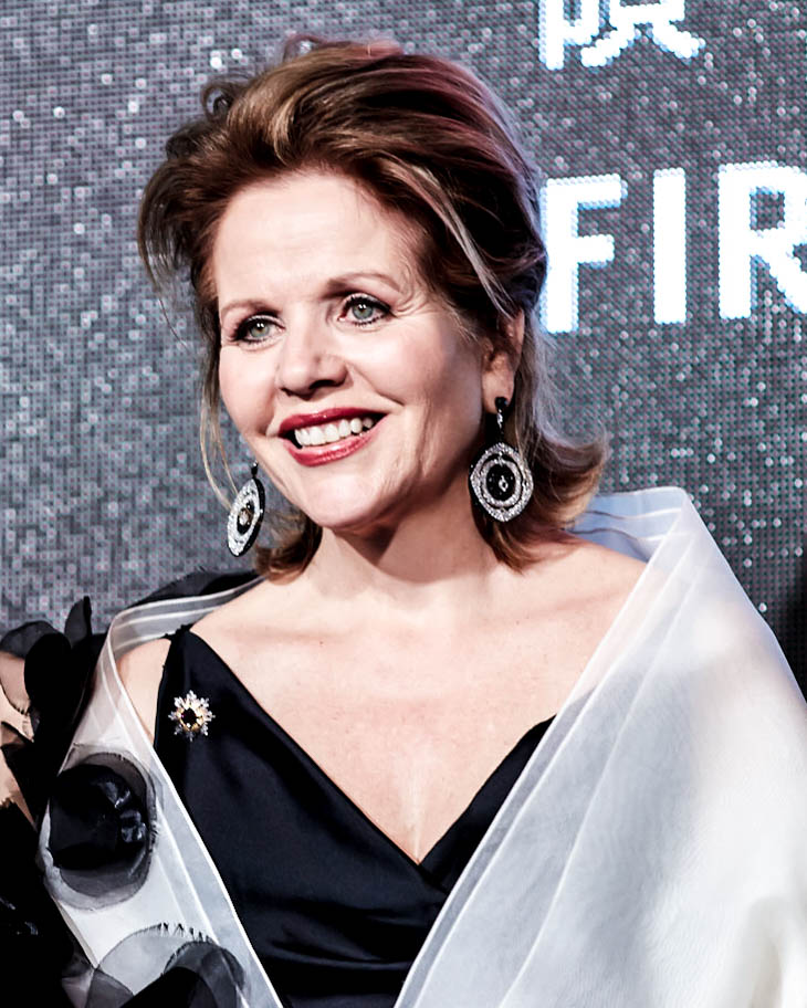 Renée Fleming wearing Labyrinth Earrings at the First Initiative Foundation 2017 'World in Tune' Gala Fundraiser.